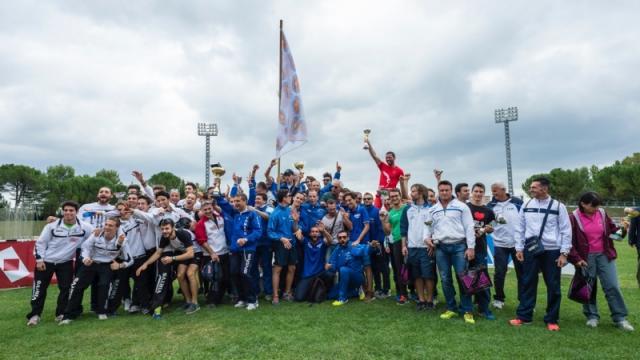 Premiazione maschile della finale dei campionati di società 2015